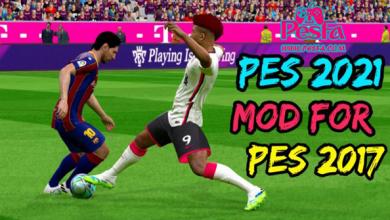 تصویر از مود تبدیلی pes2021 برای PES2017