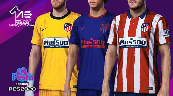 کیت پک ورژن دو Atlético de Madrid توسط AerialEdson برای PES 2020