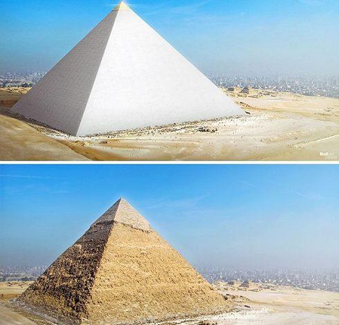 چرا نوک هرم بزرگ مصر درخشان و نورانی بود؟ + عکس