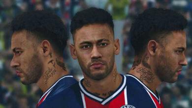 تصویر از فیس Neymar توسط A5 برای PES 2017