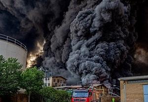 تصویر از تشکیل پرونده قضایی برای حادثه آتش سوزی قم