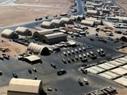 تصویر از حمله پهپادی به پایگاه آمریکایی عین الاسد در عراق – ایرنا