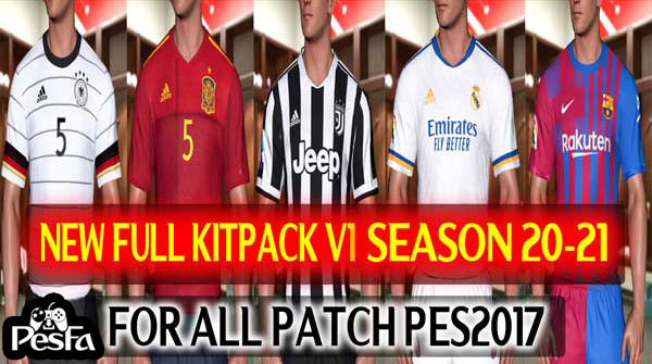 کیت پک Season 2021-2022 توسط DzPlayZ برای PES 2017