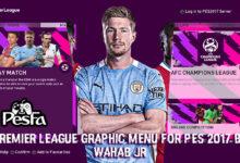تصویر از منو گرافیکی Premier League برای PES 2017 توسط WAHAB JR