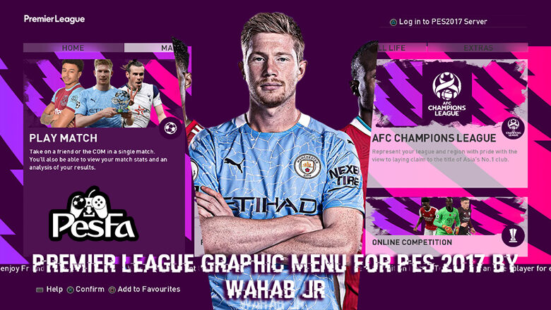 منو گرافیکی Premier League برای PES 2017 توسط WAHAB JR