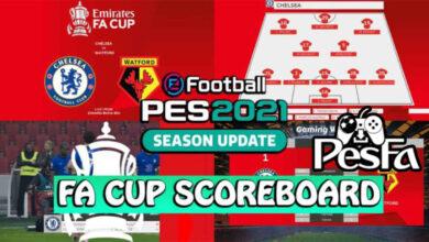 تصویر از اسکوربورد FA CUP برای PES 2021 توسط spursfan18
