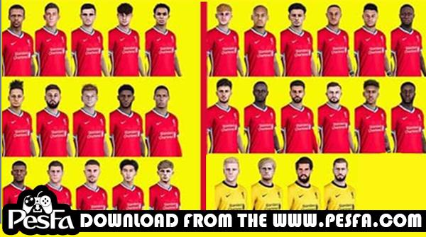 فیس پک Liverpool توسط Uqiya برای PES 2021