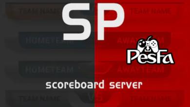 تصویر از اسکوربورد سرور SP21 برای PES 2021 مخصوص پچ اسموک