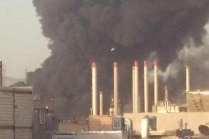 تصویر از آتش سوزی در پالایشگاه تهران مهار شد