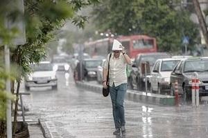 تصویر از باد و بارش باران در برخی مناطق کشور