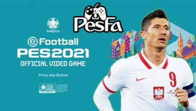 تصویر از منو گرافیکی EURO 2020 برای PES 2021 توسط PESNewupdate