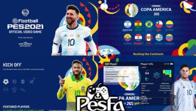 تصویر از منو گرافیکی Copa America 2021 برای PES 2021 توسط PESNewupdate