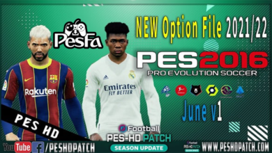 تصویر از آپشن فایل June 2021 برای پچ PES 2016 Rockstar Patch v1 توسط peshdpatch