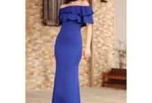 تصویر از تصاویر جدید از مدل لباس مجلسی یقه قایقی برای خانم ها