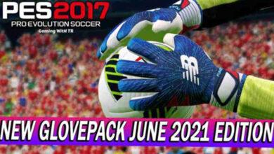 تصویر از پک دستکش جدید برای PES 2017 توسط TR