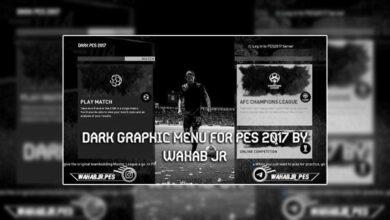 تصویر از منو گرافیکی Dark برای PES 2017 توسط Wahab JR