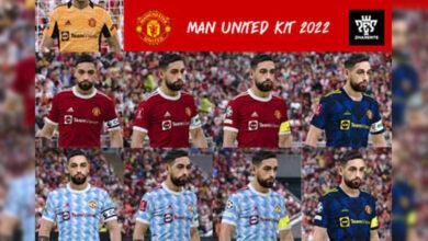 تصویر از کیت پک Manchester United برای PES 2021 توسط Zharente