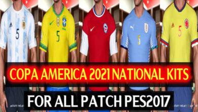تصویر از کیت پک جدید Copa America برای PES 2017 توسط DzPlayZ
