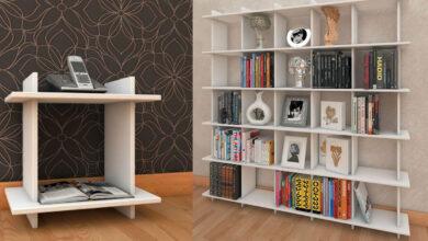تصویر از قفسه کتاب ام دی اف – قفسه کتابی که به دلخواه شما تغییر می کند