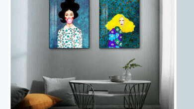 تصویر از تابلو برای اتاق خواب دخترانه – رازهای انتخاب تابلو برای اتاق خواب دخترانه