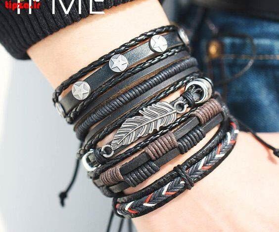 نکات مهم نگهداری دستبند چرم مردانه + تصاویر جدید   اکسسوری