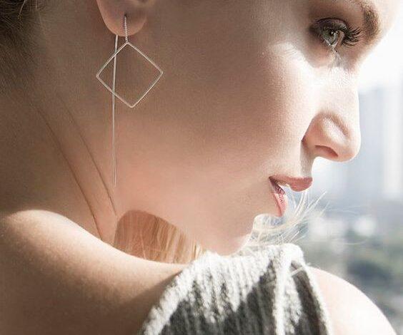 مدل های جدید گوشواره های بخیه ای دخترانه | گوشواره شیک