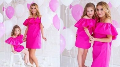 تصویر از تصاویر جدید از ست لباس شیک مادرانه و دخترانه | روش ست کردن