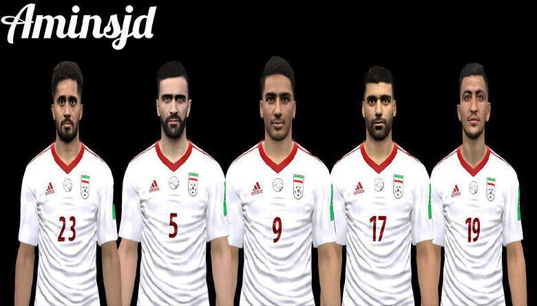 فیس پک تیم ملی توسط aminsjd برای PES 2017