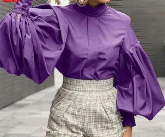 مدل بلوز و شومیز مجلسی با آستین های فانوسی | استایل زنانه