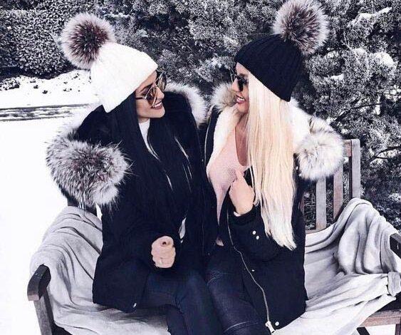 تصاویری از مدل های جدید کلاه بافت دخترانه   استایل زمستانه